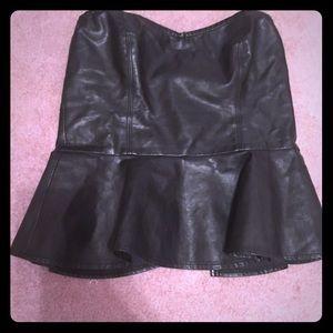 Leather Corset | Peplum Top